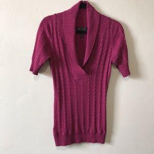 BCBG Maxazria cowl neck sweater.